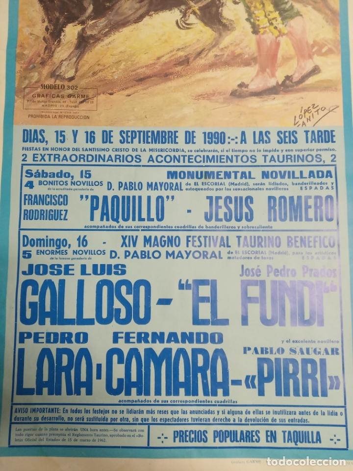 Carteles Toros: Cartel corrida de toros. Cifuentes. 15 y 16 de Septiembre de 1990. El Fundi. Galloso. Pirri, etc.. - Foto 2 - 181139205