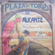 Carteles Toros: CARTEL TOROS, PLAZA ALICANTE, 1926, RUANO LLOPIS, LITOGRAFIA, MUY GRANDE, CGT1. Lote 181356830