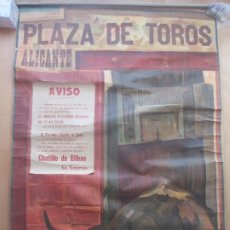 Carteles Toros: CARTEL TOROS, PLAZA ALICANTE, 1924, RUANO LLOPIS, LITOGRAFIA, MUY GRANDE, MARGEN RECORTADO, CGT2. Lote 181357233