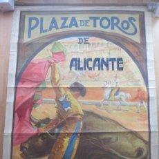 Carteles Toros: CARTEL TOROS, PLAZA ALICANTE, 1926, RUANO LLOPIS, LITOGRAFIA, MUY GRANDE, CGT3. Lote 181357517