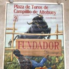 Carteles Toros: CARTEL TOROS CAMPILLO DE ALTUBUEY, CUENCA - AÑO 1967 - LITOGRAFIA, FUNDADOR DOMECQ. Lote 181568760