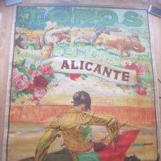 Carteles Toros: CARTEL TOROS, PLAZA ALICANTE, 1927, BARRERA, LITOGRAFIA, MUY GRANDE, CGT6. Lote 182383052