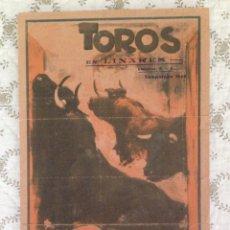 Carteles Toros: CARTEL MANOLETE LINARES 1944. Lote 182392565