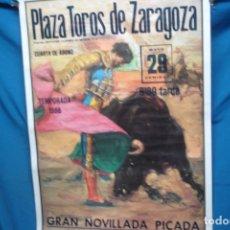 Carteles Toros: CARTEL DE TOROS 29 DE MAYO DE 1988 EN ZARAGOZA. Lote 182422358