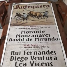 Carteles Toros: CARTEL GRANDE TOROS ANTEQUERA FERIA TAURINA AGOSTO 2019 . Lote 182499030