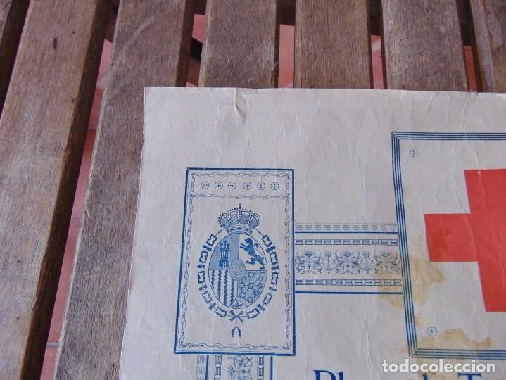 Carteles Toros: CARTEL DE TOROS MADRID ALFONSO XIII CRUZ ROJA TOREROS CAÑERO ROGER VILLALTA AGUERO 7 JUNIO 1927 - Foto 2 - 182836673
