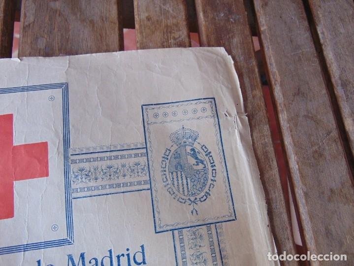 Carteles Toros: CARTEL DE TOROS MADRID ALFONSO XIII CRUZ ROJA TOREROS CAÑERO ROGER VILLALTA AGUERO 7 JUNIO 1927 - Foto 4 - 182836673