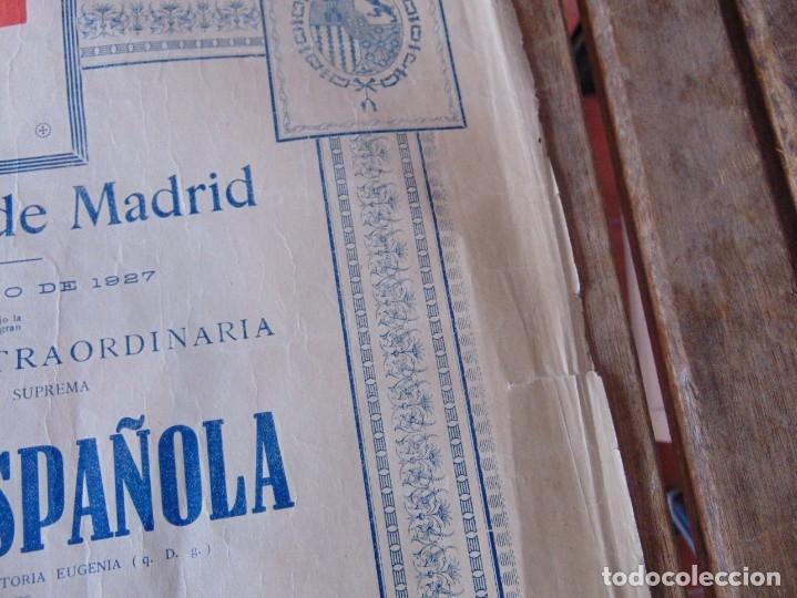 Carteles Toros: CARTEL DE TOROS MADRID ALFONSO XIII CRUZ ROJA TOREROS CAÑERO ROGER VILLALTA AGUERO 7 JUNIO 1927 - Foto 5 - 182836673