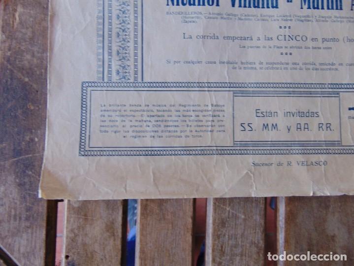 Carteles Toros: CARTEL DE TOROS MADRID ALFONSO XIII CRUZ ROJA TOREROS CAÑERO ROGER VILLALTA AGUERO 7 JUNIO 1927 - Foto 11 - 182836673