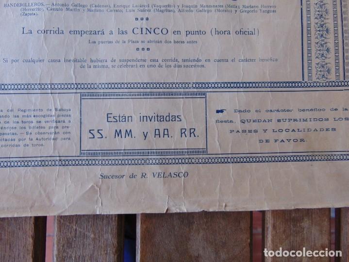 Carteles Toros: CARTEL DE TOROS MADRID ALFONSO XIII CRUZ ROJA TOREROS CAÑERO ROGER VILLALTA AGUERO 7 JUNIO 1927 - Foto 12 - 182836673