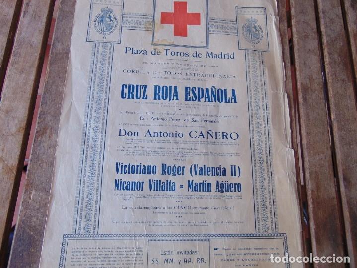 Carteles Toros: CARTEL DE TOROS MADRID ALFONSO XIII CRUZ ROJA TOREROS CAÑERO ROGER VILLALTA AGUERO 7 JUNIO 1927 - Foto 16 - 182836673