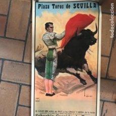 Carteles Toros: CARTEL DE TOROS SEVILLA 1947. Lote 222726501