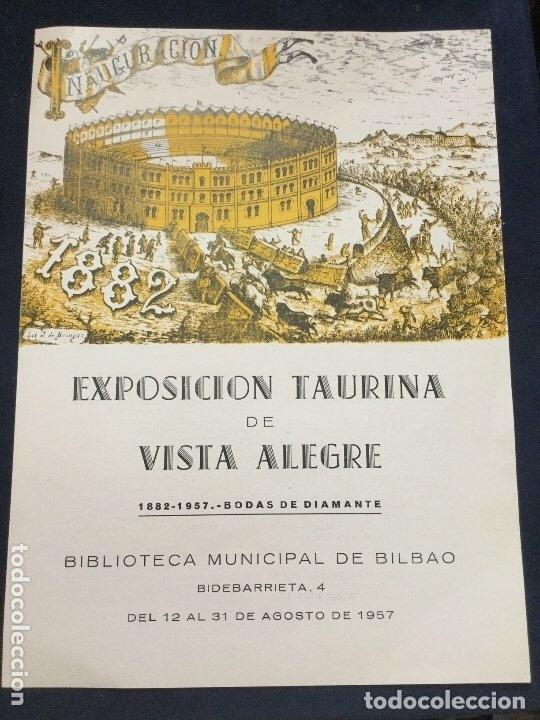 EXPOSICION TAURINA DE VISTA ALEGRE 1957 (Coleccionismo - Carteles Gran Formato - Carteles Toros)