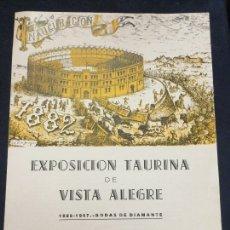 Carteles Toros: EXPOSICION TAURINA DE VISTA ALEGRE 1957 . Lote 183260281