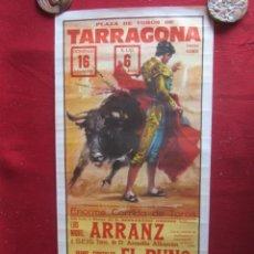 Carteles Toros: CARTEL PLAZA DE TOROS DE TARRAGONA. 8/1981. Lote 183560097