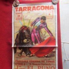 Carteles Toros: CARTEL PLAZA DE TOROS DE TARRAGONA. 8/1980. Lote 183563865