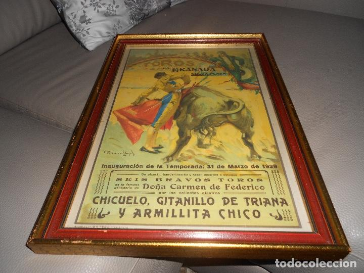Carteles Toros: Carte TOROS Granada 31 MARZO 1929 Chicuelo Gitanillo de Triana ARMILLITA CHICO TOROS CARMEN FEDERICO - Foto 2 - 183761868