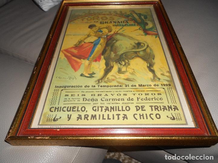 Carteles Toros: Carte TOROS Granada 31 MARZO 1929 Chicuelo Gitanillo de Triana ARMILLITA CHICO TOROS CARMEN FEDERICO - Foto 4 - 183761868