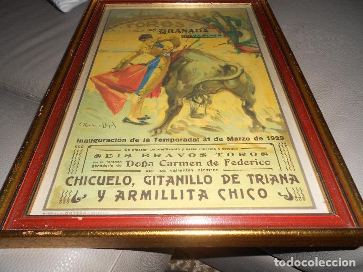 Carteles Toros: Carte TOROS Granada 31 MARZO 1929 Chicuelo Gitanillo de Triana ARMILLITA CHICO TOROS CARMEN FEDERICO - Foto 6 - 183761868