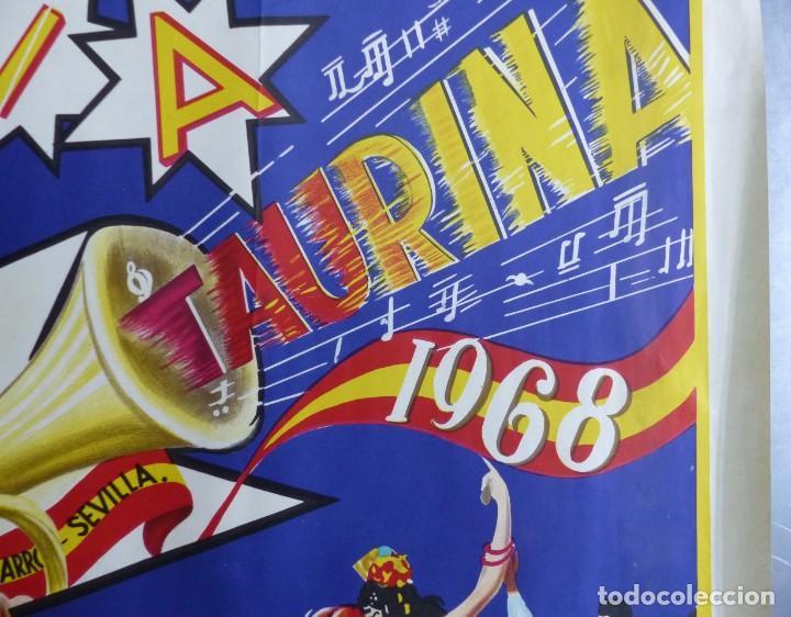 Carteles Toros: ANDALUCIA TAURINA - CARTEL LITOGRAFICO - AÑO 1968., C. HORNA - Foto 8 - 183819236