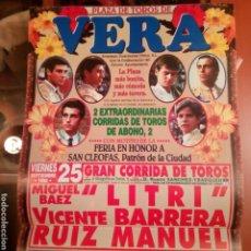 Cartazes Touros: ALMERÍA VERA CARTEL TOROS 1998. Lote 186275263