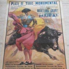 Carteles Toros: CARTEL DE TOROS DE BARCELONA. 2 Y 5 DE SEPTIEMBRE DE 1971.CALATRAVEÑOJOAQUÍN BERNADÓ, SANTIAGO LÓPEZ. Lote 186628891