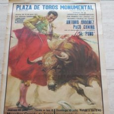 Carteles Toros: CARTEL DE TOROS DE BARCELONA. 15 Y 18 DE JULIO DE 1971. JEREZANO, PEDRO BENJUMEA, ANTONIO ORDÓÑEZ,. Lote 186631833