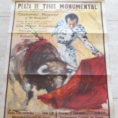 Carteles Toros: CARTEL DE TOROS DE BARCELONA. 9 Y 12 DE SEPTIEMBRE DE 1971. CALATRAVEÑO, LUIS MIGUEL DOMINGUÍN,. Lote 186634198