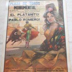 Carteles Toros: CATEL DE TOROS DE BARCELONA.1 Y 3 DE MAYO DE 1970. DÁMASO GÓMEZ, ANDRÉS HERNANDO Y ADOLFO ÁVILA. Lote 186634998