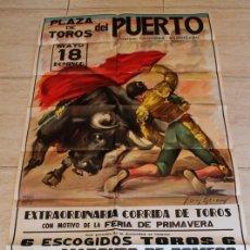 Carteles Toros: CARTEL DE TOROS DEL PUERTO. 18 DE MAYO DE 1980. JOSÉ LUIS GALLOSO, LUIS FRANCISCO ESPLÁ Y PACO OJEDA. Lote 187370367