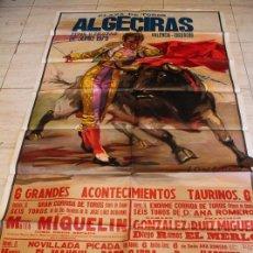 Carteles Toros: CARTEL DE TOROS DE ALGECIRAS. FERIA Y FIESTAS DE JUNIO 1979. DÁMASO GONZÁLEZ, FRANCISCO RUIZ MIGUEL. Lote 187371865