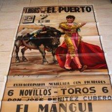 Carteles Toros: CARTEL DE TOROS DE EL PUERTO. 24 DE JUNIO DE 1979. EL MANGUI, PACO OJEDA Y MIGUEL ÁNGEL. . Lote 187372312
