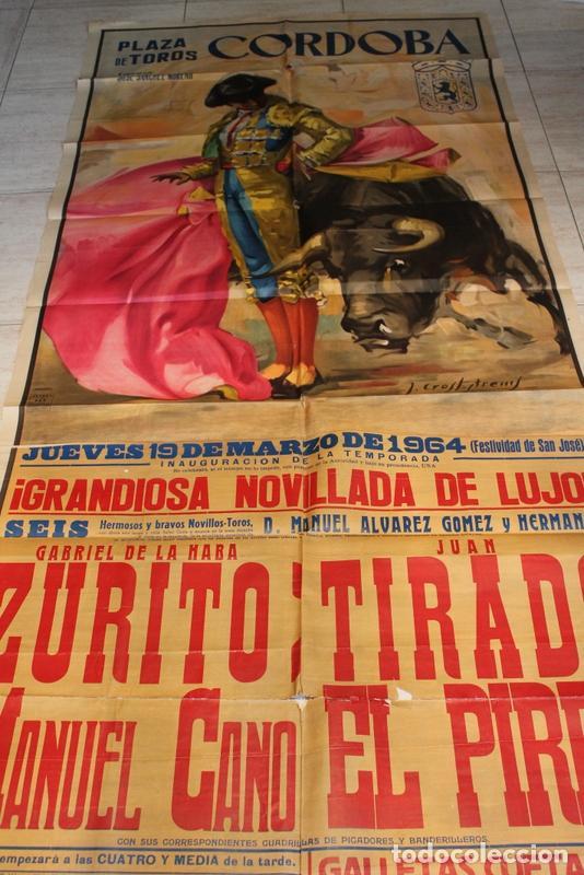 CARTEL DE TOROS DE CÓRDOBA. 19 DE MARZO DE 1964. ZURITO, JUAN TIRADO Y MANUEL CANO EL PIREO (Coleccionismo - Carteles Gran Formato - Carteles Toros)