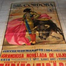 Carteles Toros: CARTEL DE TOROS DE CÓRDOBA. 19 DE MARZO DE 1964. ZURITO, JUAN TIRADO Y MANUEL CANO EL PIREO. Lote 187373241
