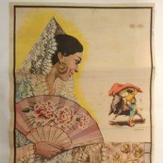 Carteles Toros: CARTEL DE TOROS MÁLAGA 1964 ( 23 X 46 CM.). Lote 188639760