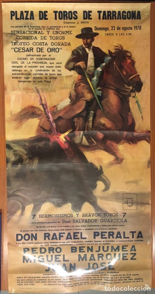 CARTEL TOROS TARRAGONA. TROFEO COSTA DORADA, 1970 (Coleccionismo - Carteles Gran Formato - Carteles Toros)
