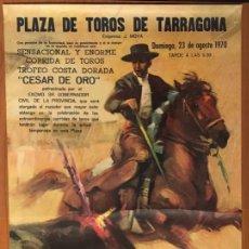 Carteles Toros: CARTEL TOROS TARRAGONA. TROFEO COSTA DORADA, 1970. Lote 189351891