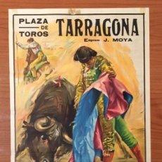 Carteles Toros: CARTEL TOROS TARRAGONA. TROFEO COSTA DORADA, 1968.. Lote 189509275