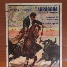 Carteles Toros: CARTEL TOROS TARRAGONA. TROFEO COSTA DORADA, 1964.. Lote 189511501