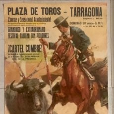 Carteles Toros: CARTEL TOROS TARRAGONA.1971.. Lote 189604212