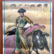 Carteles Toros: CARTEL TOROS TARRAGONA. CHANITO. 1968.. Lote 189614405