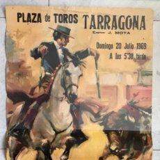 Carteles Toros: CARTEL TOROS TARRAGONA. PAQUIRRI. 1969. Lote 189614836