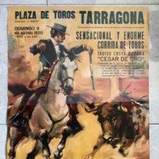 Carteles Toros: CARTEL TOROS TARRAGONA. PALOMO LINARES. 1970. Lote 189615665