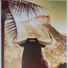 Carteles Toros: CARTEL TAURINO HOGUERAS DE SANT JOAN 2018 ALICANTE TOROS 85X33 CM, SIN DOBLAR. Lote 189806401