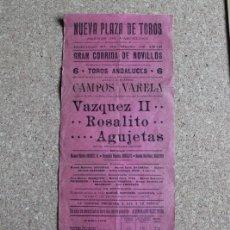 Carteles Toros: CARTEL DE TOROS DE BARCELONA. 31 DE MARZO DE 1912. MANUEL MARTÍN VÁZQUEZ II, ROSALITO. Lote 190446981