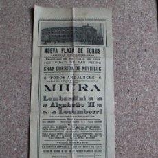 Carteles Toros: CARTEL DE TOROS DE BARCELONA.29 DE JUNIO DE 1913. LOMBARDINI, ALGABEÑO II Y ZACARÍAS LECUMBERRI.. Lote 190448002