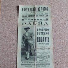 Carteles Toros: CARTEL DE TOROS DE BARCELONA. 7 DE MAYO DE 1911. PACOMIO PERIBÁÑEZ, PETREÑO Y RODOLFO RODARTE. Lote 190448450