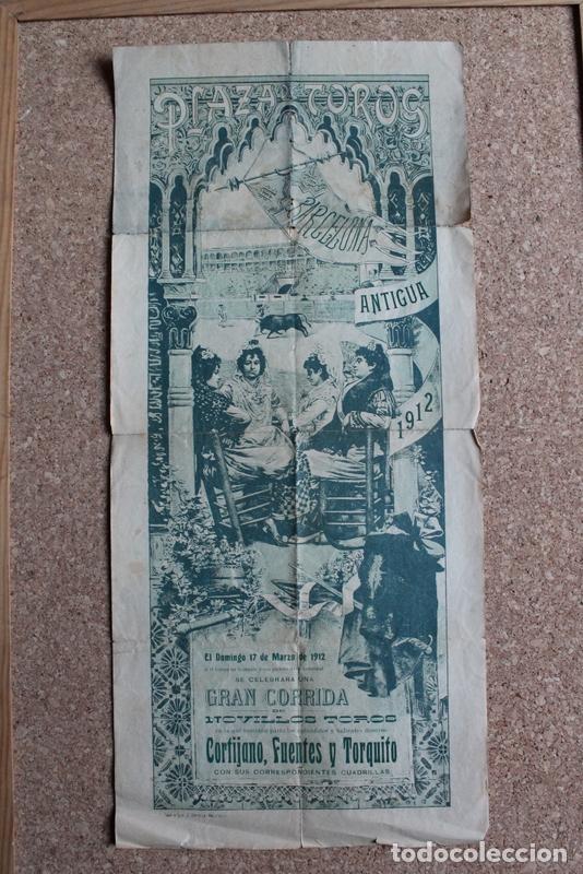 CARTEL DE TOROS DE BARCELONA. 17 DE MARZO DE 1912. E. CORTELL CORTIJANO, EUSEBIO FUENTES Y TORQUITO (Coleccionismo - Carteles Gran Formato - Carteles Toros)