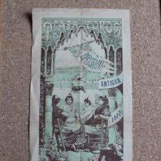 Carteles Toros: CARTEL DE TOROS DE BARCELONA. 26 DE MAYO DE 1912. JAQUETA, ZAPATERITO Y FRANCISCO VILA RUBIO.. Lote 190449906