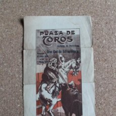 Carteles Toros: CARTEL DE TOROS DE BARCELONA. 27 DE ABRIL DE 1913. ANTONIO FUENTES, MINUTO Y PUNTERET. Lote 190450562